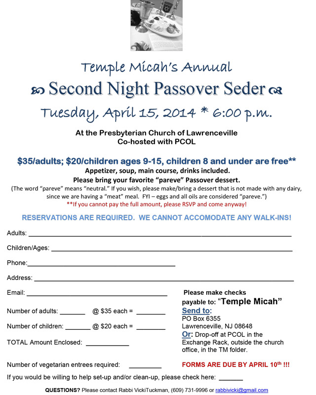 Flyer Passover 14
